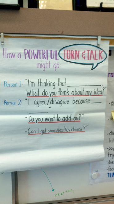 Powerful Turn and Talks Chart SMASH School in Santa Monica