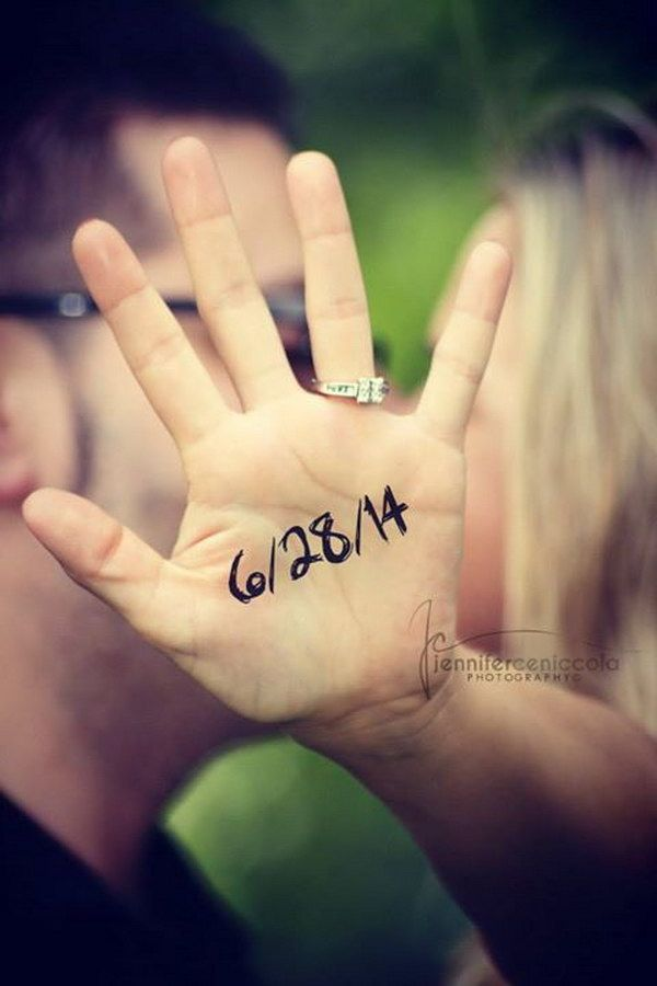 Ring and Wedding Date Photo Save the Date