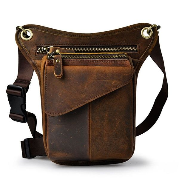 Outdoor Motorcycle Drop Leg Bag for Men Women Thigh Waist Fanny Pack Crossbody Shoulder Riding Travel Hiking Tactical Cycling