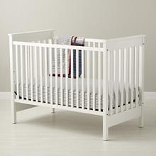 Baby Cribs: Baby Solid White Convertible Crib in Cribs