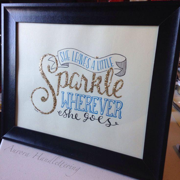 Sparkle / Aurora Handlettering 2014