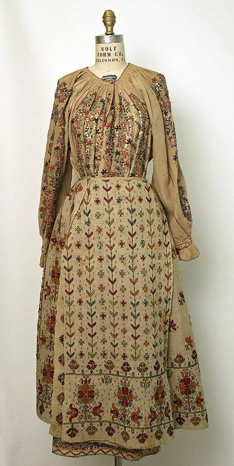 Romanian Ensemble at the Museum of Art, New York Date: 1800–1939 Culture: Romanian Medium: linen, wool Credit Line: Gift of Miss Irene Lewisohn and Alice Lewisohn Crowley, 1939