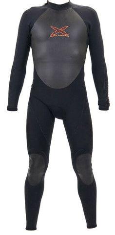3/2mm Steamer Wetsuit - Titanium Mega-Stretch Sealed Seam Long Sleeve | triple-x-wetsuits
