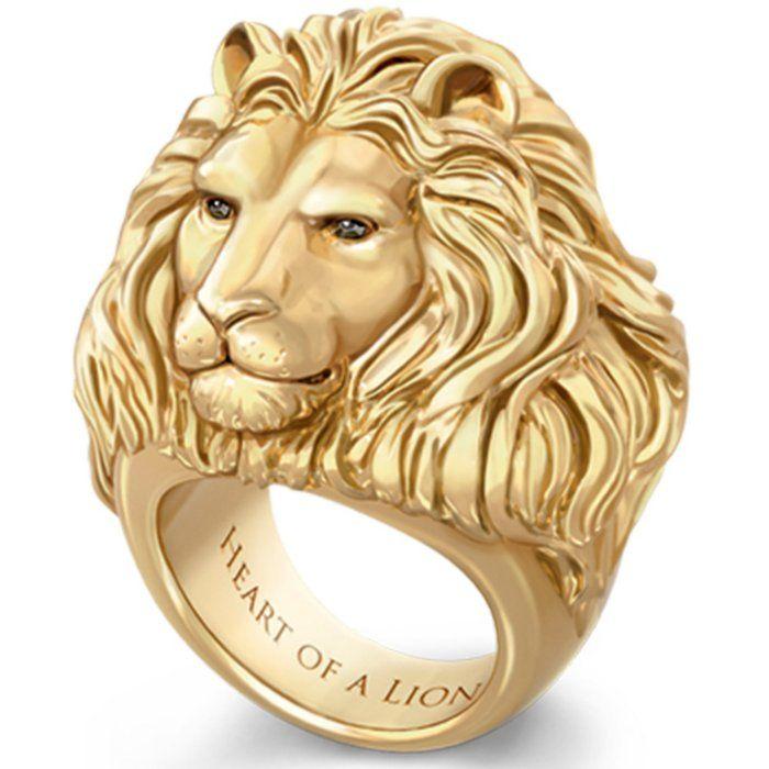 Con el corazón de un león – Anillo de hombre – Joyas y relojes – Comprar …   – Schmuck