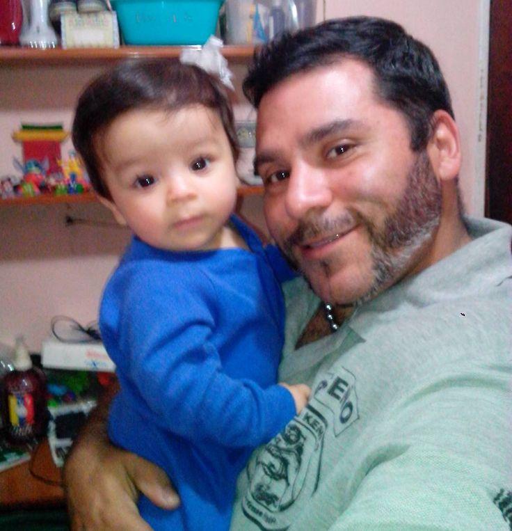 Y hoy nuestro principe azul @marceldavidbr cumple 9 mesesotes ya ta gande nuestro bebe Dios te Bendiga hijo amado muak