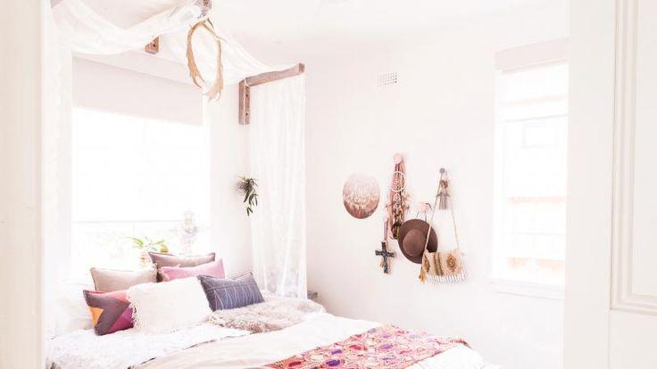 Reno Rumble Reveals: Kyal & Kara's Boho Bedroom. Photography by Elizabeth Allnut.