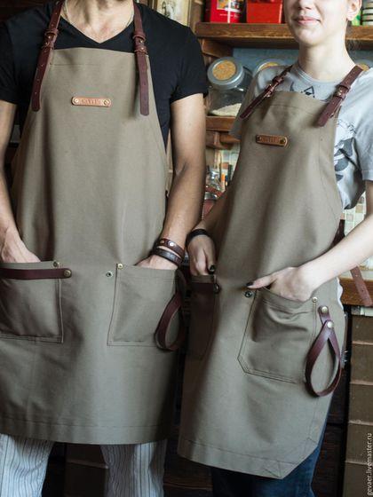 Family LooK от GeVaER :) женский фартук сделан на заказ, в комплект к мужскому.