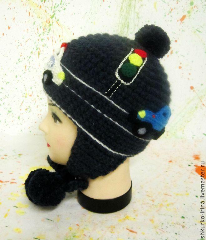 """Купить Зимняя шапка """"Полиция"""".продана))сделаю на заказ. - шапка зимняя, шапка детская, шапка с помпоном"""