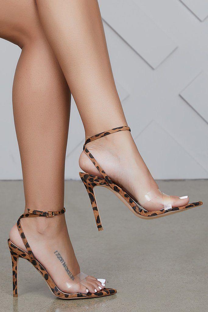 Strappy Leopard Heels