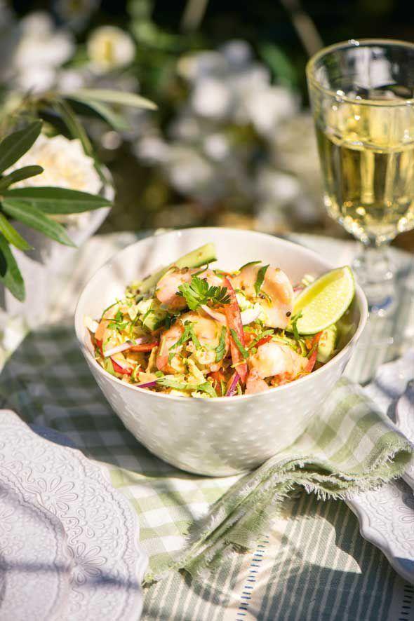 Thai prawn salad with quinoa