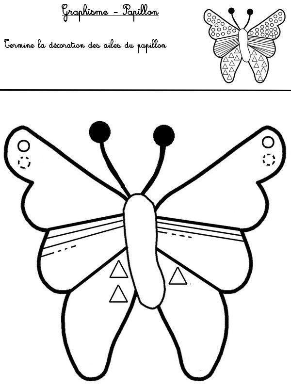 Graphisme: termine la décoration des ailes du papillon