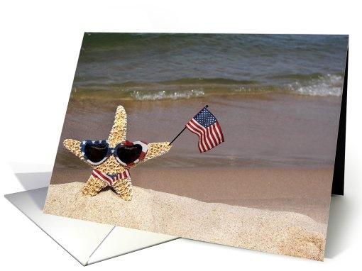 #American #Star Greeting Card