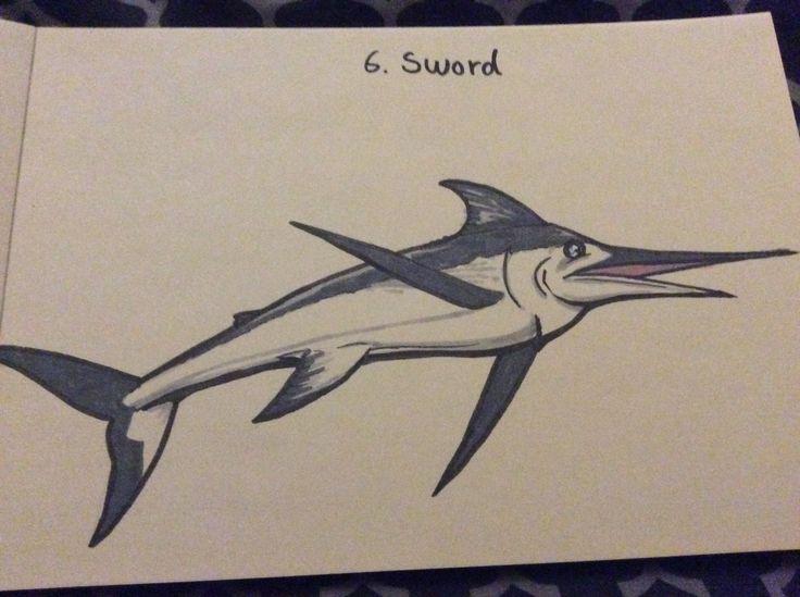 #inktober #inktober2017 #sword #swordfish