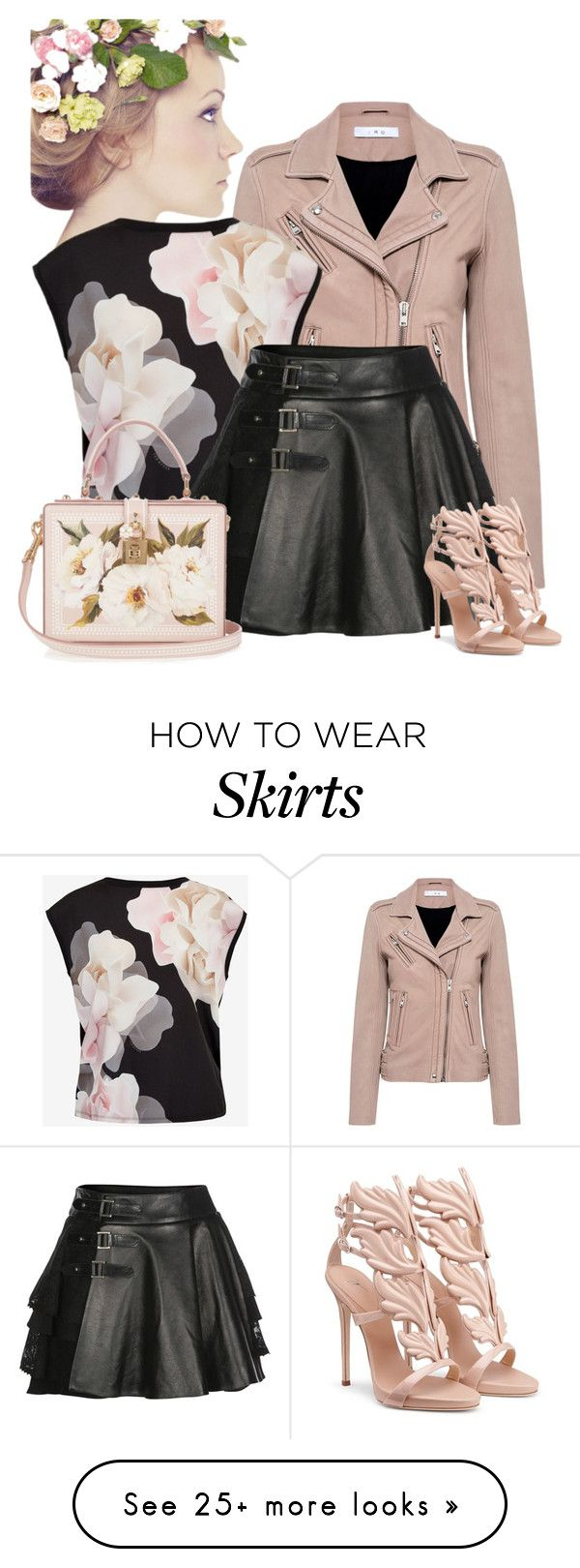 """""""Blush"""" by artistkarstenmouras on Polyvore featuring IRO, Ted Baker, Mairi Mcdonald and Dolce&Gabbana"""