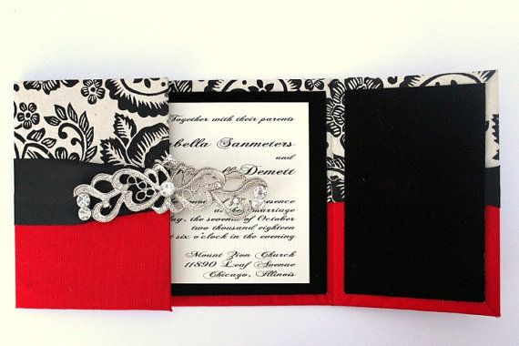 Wedding Invitations Old Hollywood GLAM by AlexandriaLindo on Etsy, $19.50