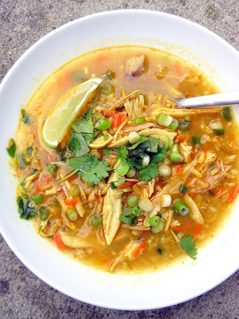 a hint of honey: Coconut-Curry Chicken Soup