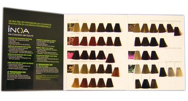 L oreal professional inoa hair colour chart hair color formulas