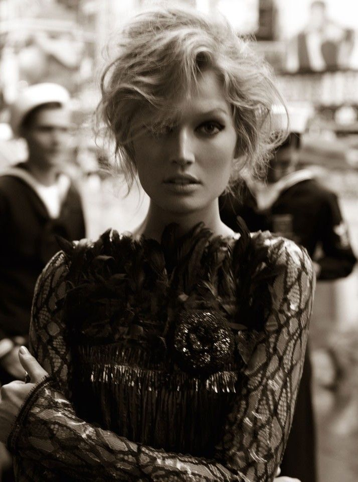Toni Garrn by Alexi Lubomirski Alluring     Confidence, something I wish I had.  Drawing everyone into your mystery.