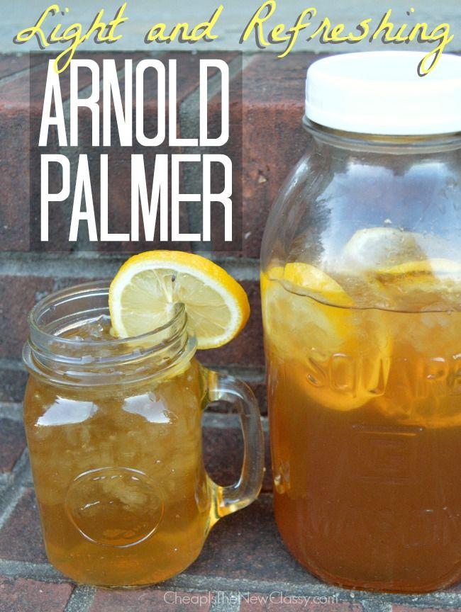 Light & Refreshing Arnold Palmer Recipe With Fresh Lemons.