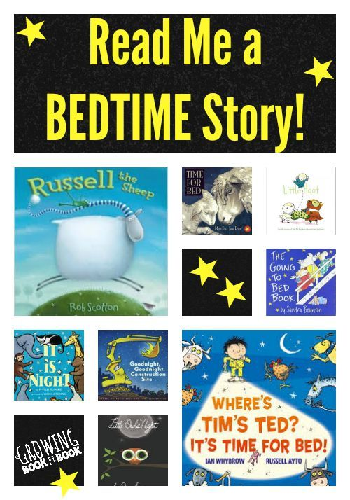 Looking for great bedtime read-alouds.  This book list will help the kids relax for evening.  They all have a bedtime theme!