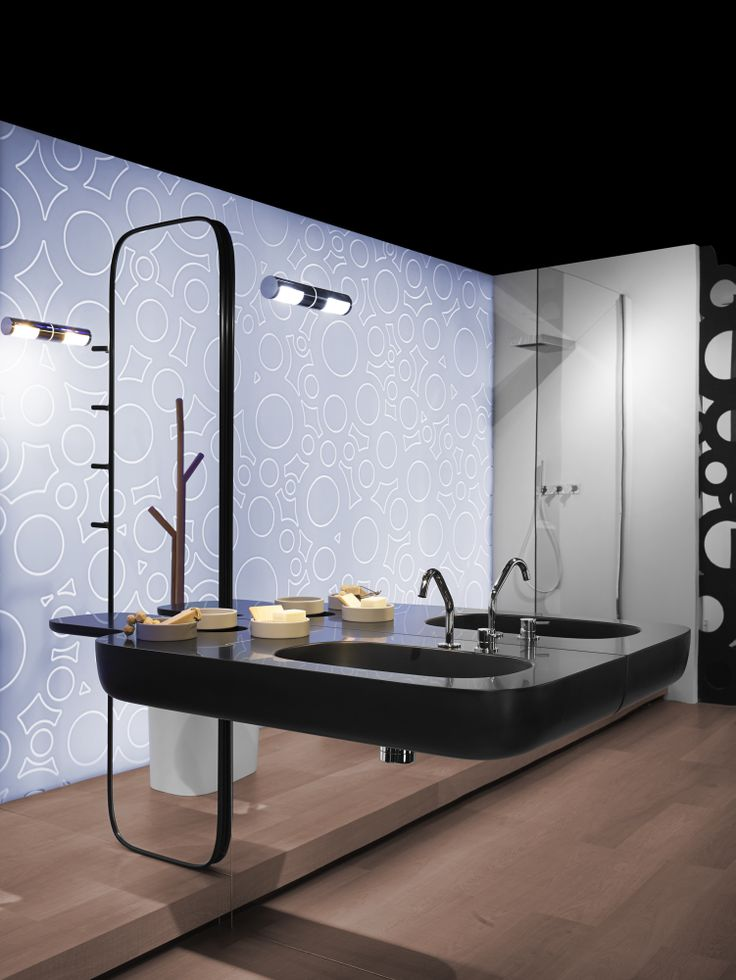 Rexa collections are introduced for the first time in Milan with a total black new version #design #bath #bathroom