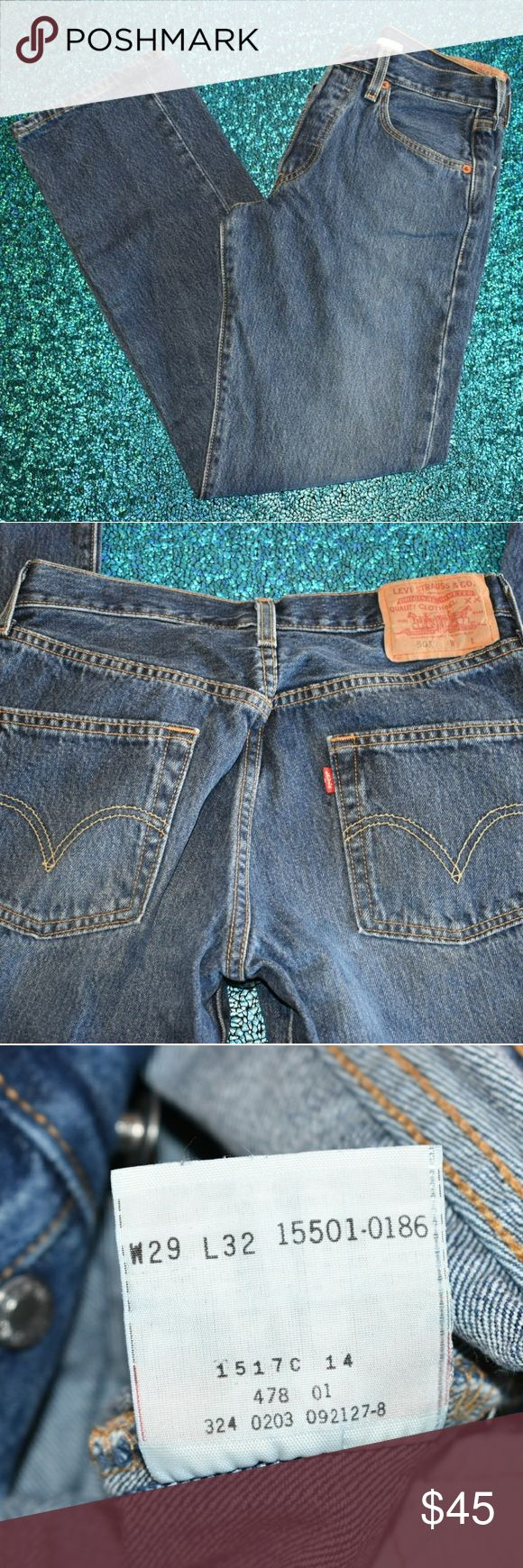 LEVI'S BUTTONFLY WOMEN'S JEANS 501 pre-owned but still in perfect condition no holes or stains  W29 L32 Levi's Jeans