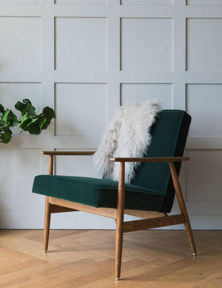H. Lis Fox Easy Chair Velvet at Rose & Grey
