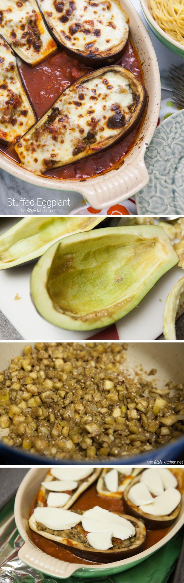 Stuffed Eggplant Recipe from thelittlekitchen.net