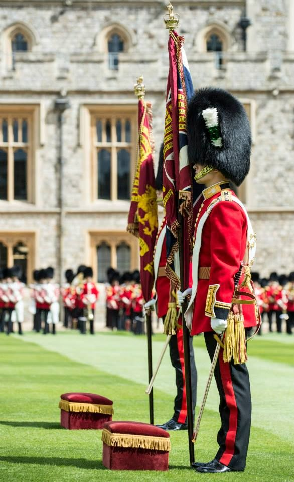 Welsh Guards receive new Colours 2015