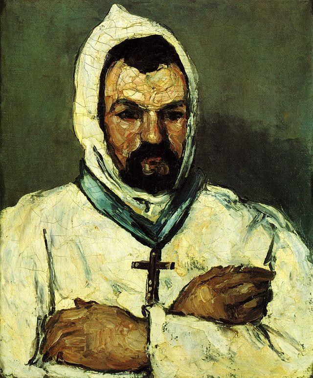 """""""Ritratto di monaco domenicano"""", Paul Cézanne, 1866; olio su tela, 64,8x54 cm; il dipinto è conservato presso il Metropolitan Museum of Art, New York City."""