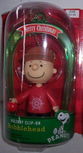 Charlie Brown Bobblehead Holiday Clip on Merry Christmas 2013 @ niftywarehouse.com #NiftyWarehouse #Peanuts #CharlieBrown #Comics #Gifts #Products