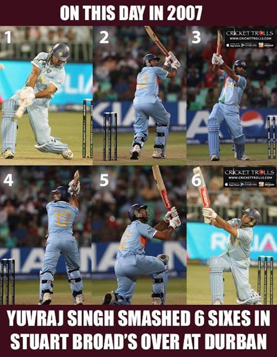 On this day Yuvraj Singh also smashed the fastest 50 in T20 International off just 12 balls - http://ift.tt/1ZZ3e4d