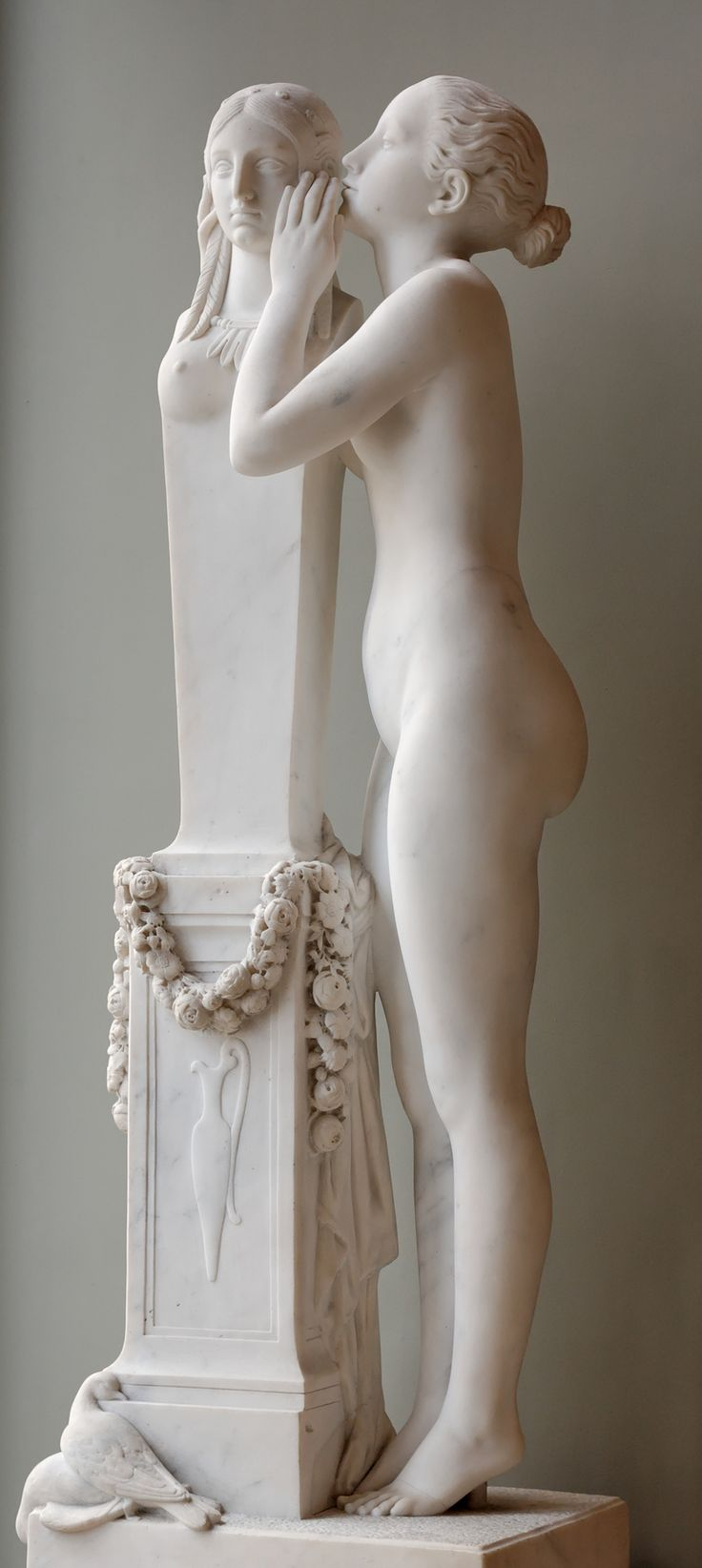 First Secret Entrusted to Venus, 1839, by François Jouffroy (1806–1882). Marble sculpture | Louvre