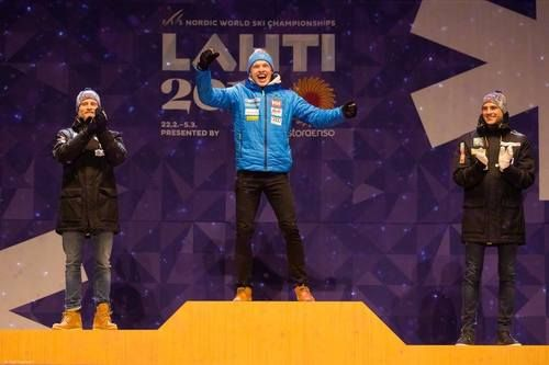 Congratulations! Top 3 of Men's 15k classic:  1. Iivo Niskanen (FIN)  2. Martin Johnsrud Sundby (NOR)  3. Niklas Dyrhaug (NOR)  Nordic World Ski Championships, Lahti, Finland, March 2017