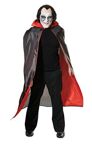 Black Dracula Cape With Red Lining by Bristol Novelty @ niftywarehouse.com #NiftyWarehouse #Dracula #Vampires #ClassicHorrorMovies #Horror #Movies #Halloween #Vampire