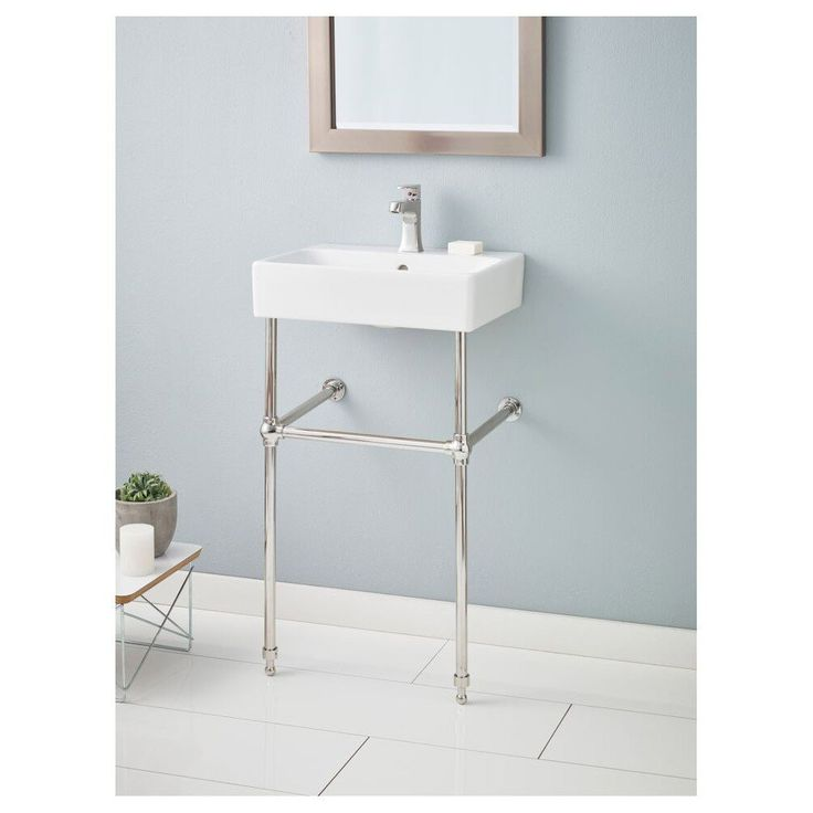 Lavatories And Sinks : Cheviot Nuo Console Lavatory Sink - Single Hole Faucet Drilling ...