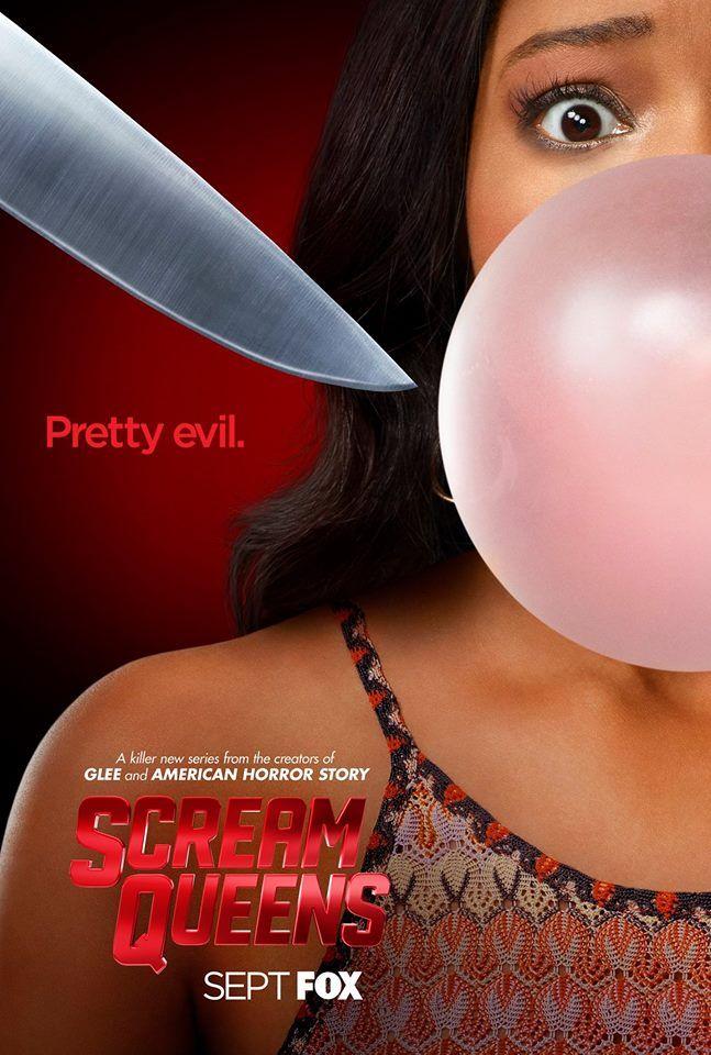 #ScreamQueens, la nouvelle série de Ryan Murphy sur la FOX, continue de faire le buzz en se dévoilant dans trois magnifiques affiches teaser... Pretty Evil !! --> Keke Plamer