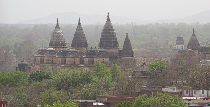 Chattris of Orchha as seen from Jahangir Mahal. best time to visit is after Monsoon Season.