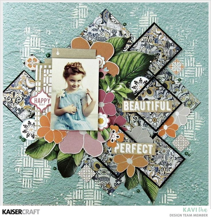 A gorgeous, layout by Kavitha DT member for Kaisercraft Official Blog. Kavitha has featured the beautiful January 2018 'Havana Nights' collection. Learn more at kaisercraft.com.au - Wendy Schultz - Kaisercraft Projects.