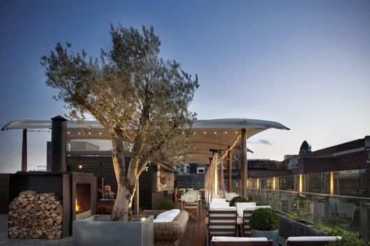 Rooftop bar at The Boundary, Terence Conran's awesome hotel-restaurant-market-bar in Shoreditch