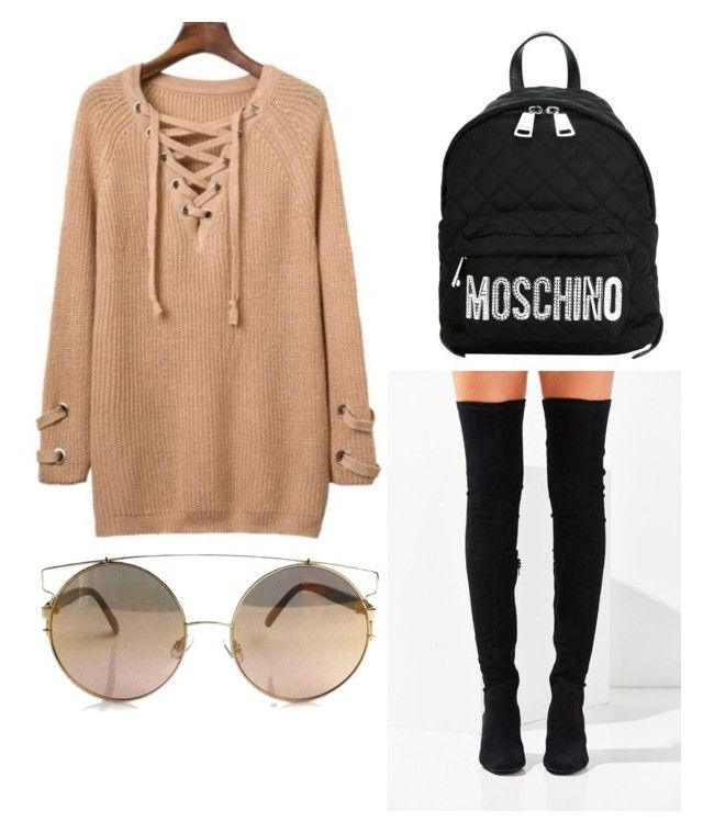 """M"" by folea-petra-dana on Polyvore featuring Jeffrey Campbell and Moschino"