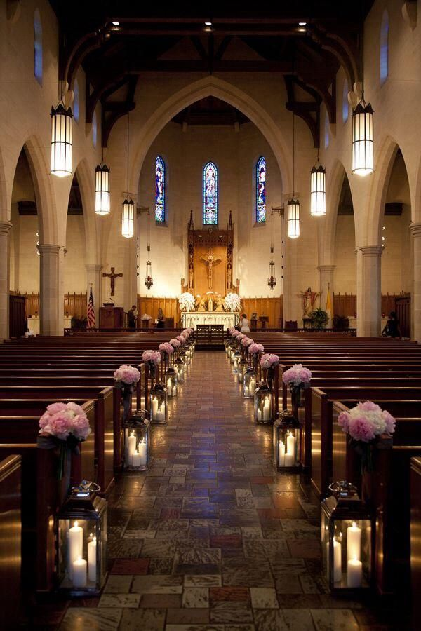 Kirchendekoration, Hochzeit, Blumen, Gangdekoration, Bankdekoration
