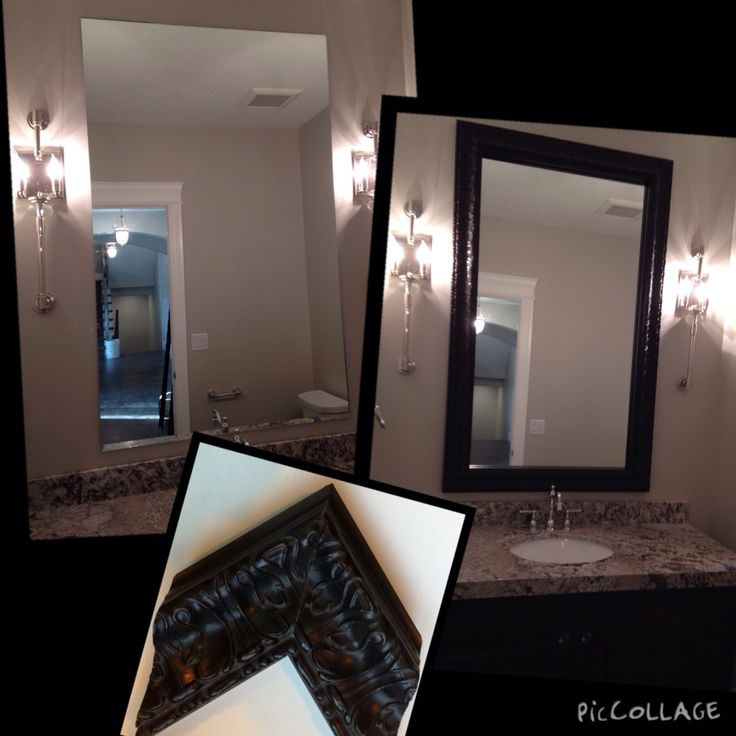 Framing And Existing Mirror Is The Most Economical Way To Update Your  Bathroom. This Bathroom