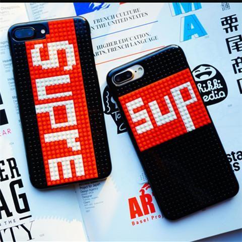 人気ブランド シュプリーム supreme iPhone8/7/7plus/6s/6splus 携帯カバー レゴ 積み木 自分で柄をデザインできる ファション 若者向け