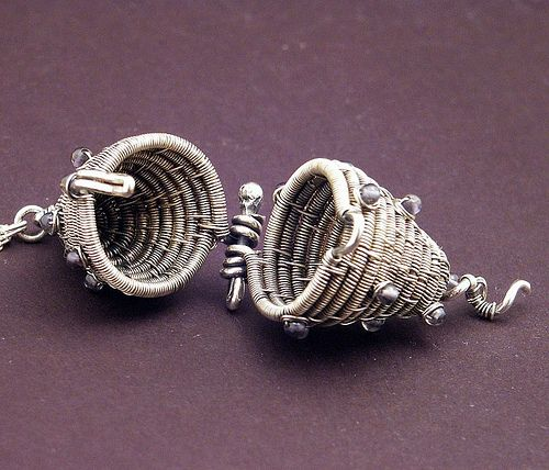 Basket Weaving Jewelry : Images about wire woven baskets and basket style