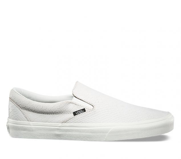 Slip-on uppers with embossed suede  Padded collars  Elastic side accents  Signature rubber waffle outsoles