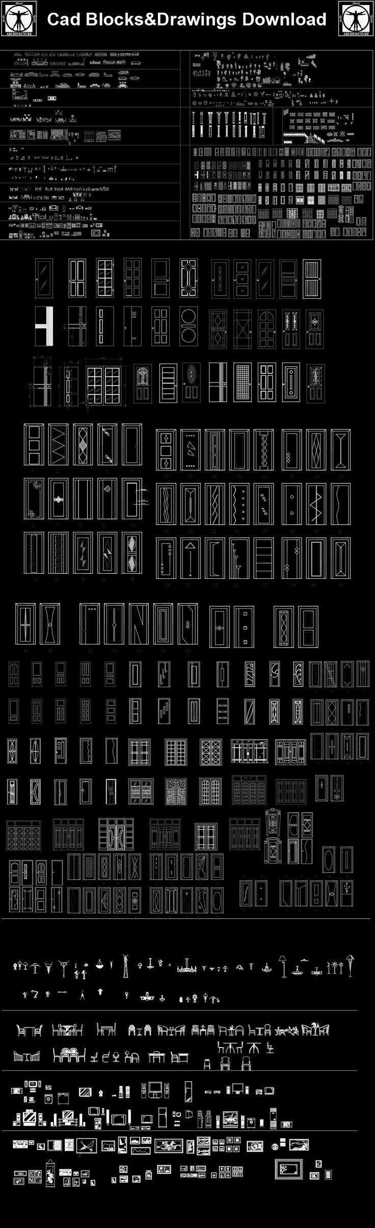 Furniture Blocks,Furniture elevation,Door and window design,Architecture Decoration Drawing,Decorative Elements,Architecture Decoration Drawing,Architecture Decor,Interior, Decorating,Modern Architecture,Decoration