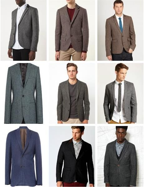 Купить мужской твидовый пиджак