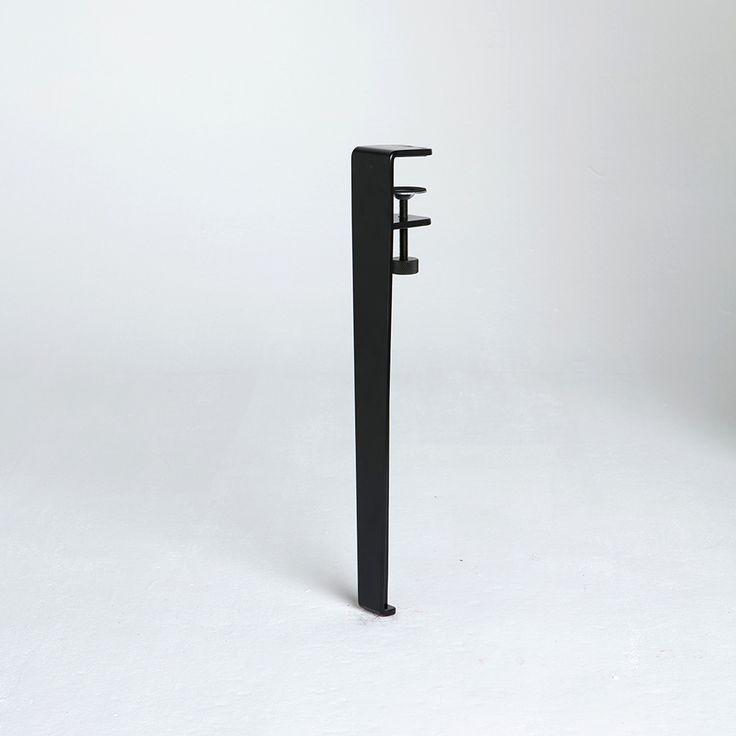 Magnifique table design avec pied de table, pied de meuble modulable et pied de table acier. Pied de table reglable et coloré                                                                                                                                                                                 Plus