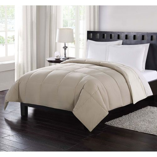 London Fog Down Reversible Twin Comforter in Tan